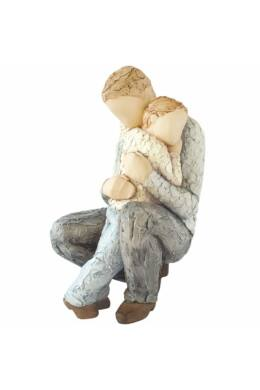 apa-fia ölelés More Than words szobor