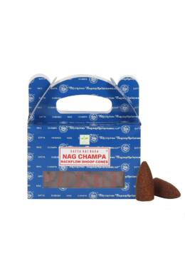 Satya nag champa, lefelé áramlásos (backflow) kúpfüstölő