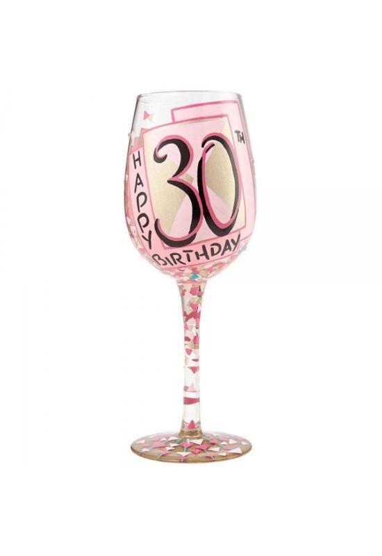 30. Születésnapi Borospohár