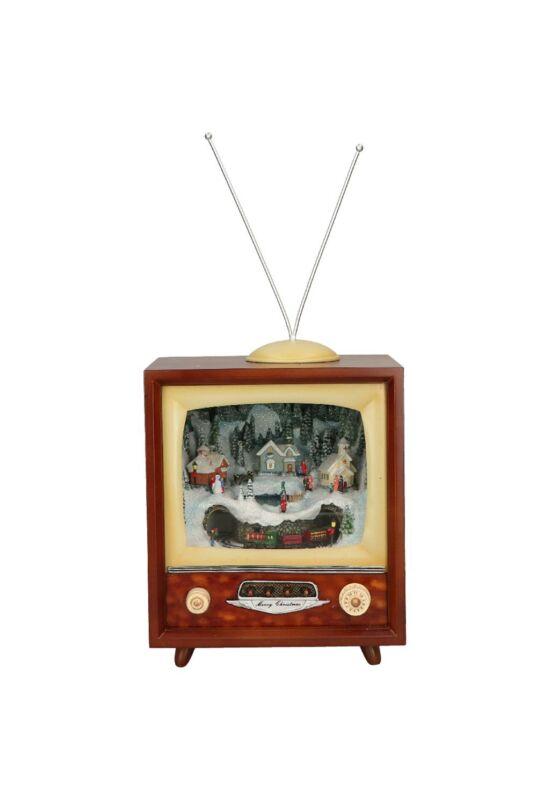 Timstor Vintage TV karácsonyi havas tájjal