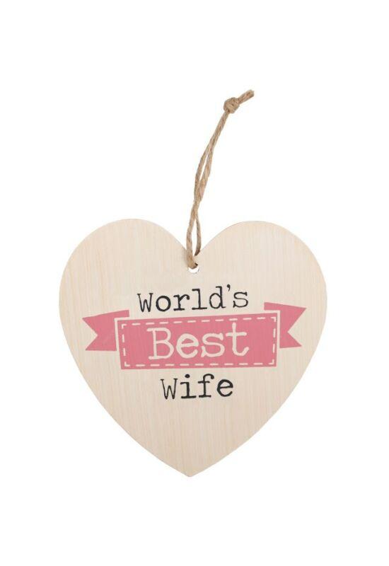 A világ legjobb felesége szív alakú tábla