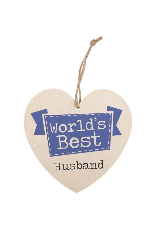 A világ legjobb férje szív alakú tábla