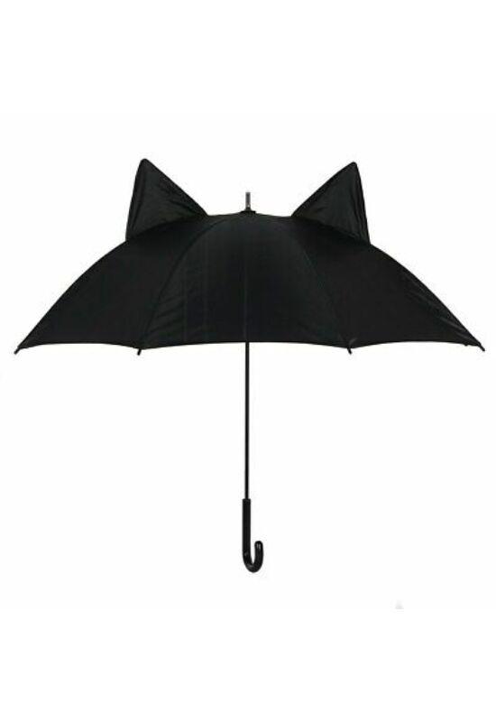 Fekete esernyő 3D cicafülekkel
