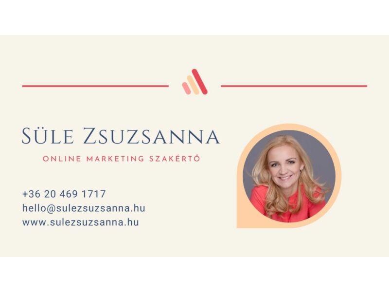 Süle Zsuzsanna online marketing szakértő